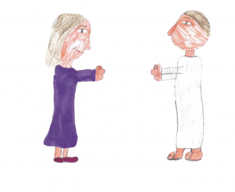 Mary and Jesus - by Tiani