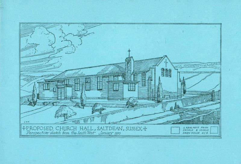 Sketch of the proposed Church Hall January 1950