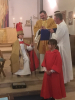 The Child Bishop offers a prayer