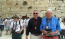 Marcus, Fr Phillip and Fr Michael at the Western Wall