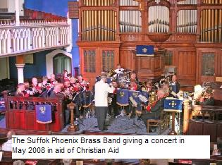 Phoenix Brass band concert for Christian Aid May 2008