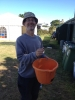 George with bucket