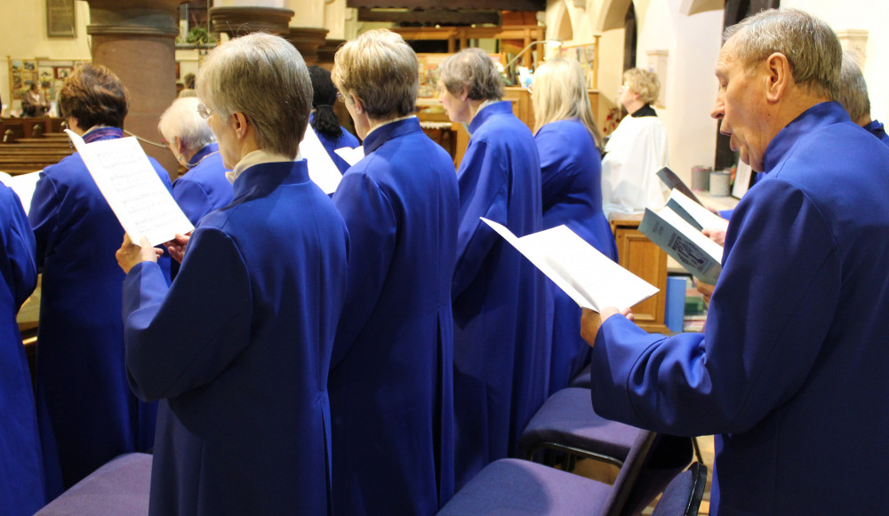 Photo of the All Saints' Cheadle Hulme choir at Sung Evensong