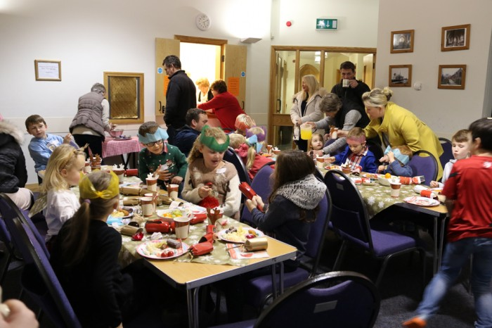 Tea time at Messy Church December 2017