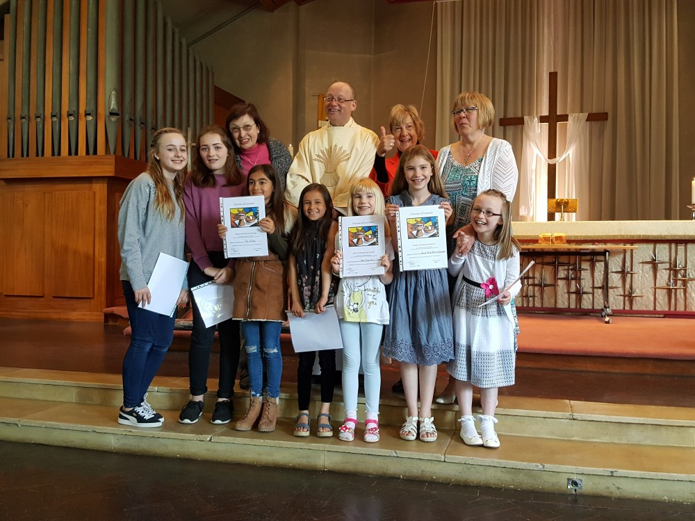 A photo of the young people with their certificates 30th April 2017