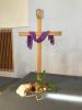 Cross with Palm Leaves