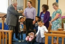 Rev. David Bracken, Margaret and family with members of TLC Bozeat