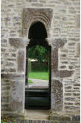 Photo of small doorway replaced with glass at All Saint's Somerford Keynes