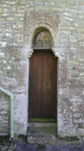 Photo of original small doorway before it was replaced with glass. All Saint's Somerford Keynes