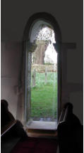 Photo of small doorway replaced with glass All Saint's Somerford Keynes