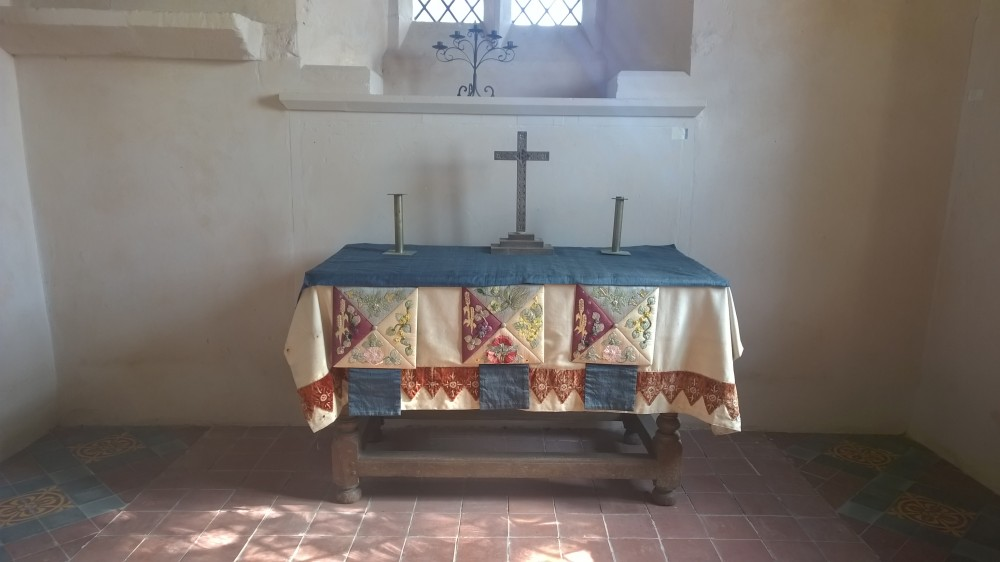 Altar table at All Saint's Church Shorncote