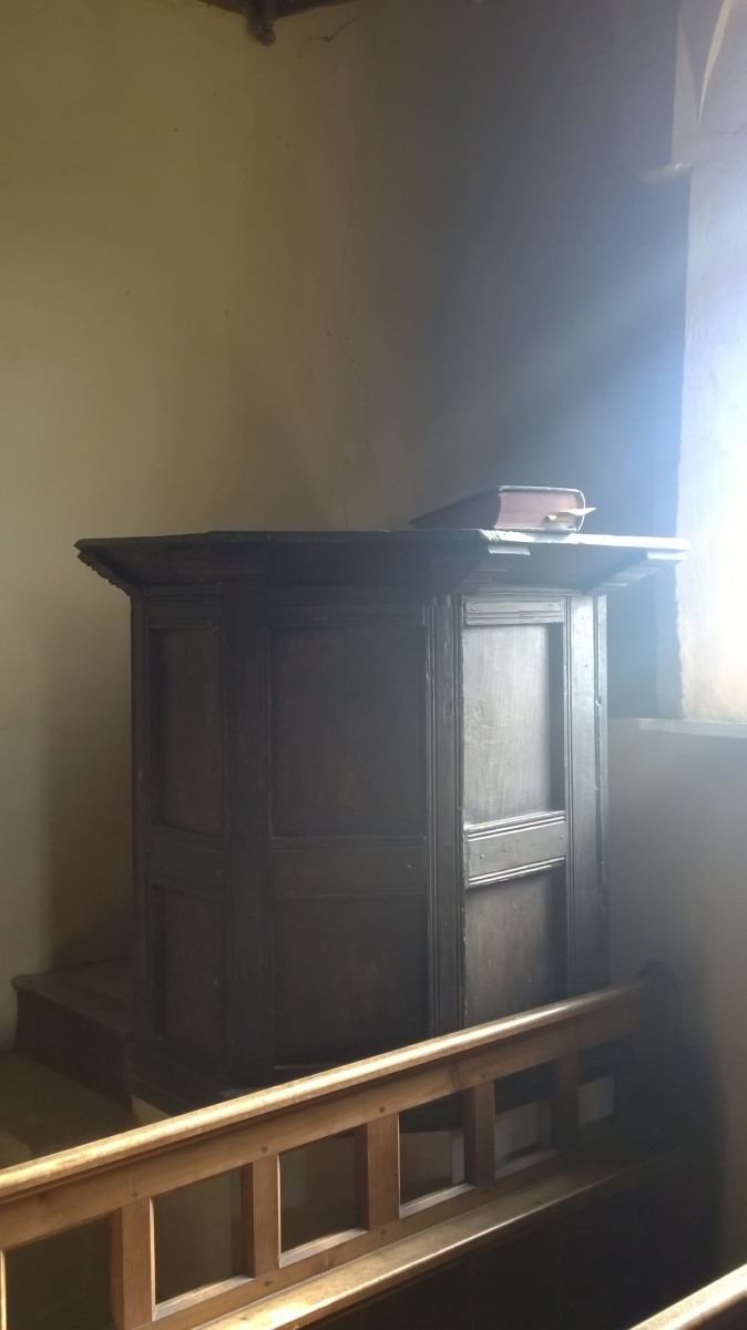 Pulpit in All Saint's Shorncote