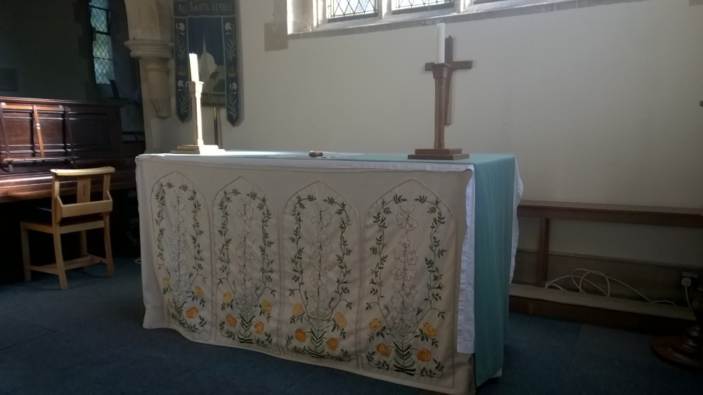 All Saint's Kemble Altar in the Ewen Aisle