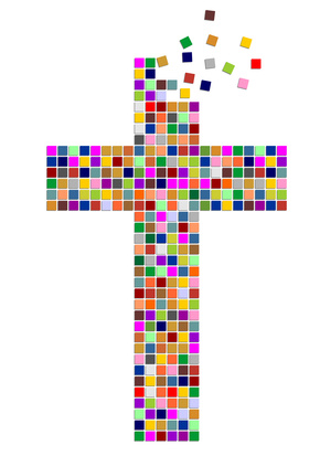 A mosaic cross