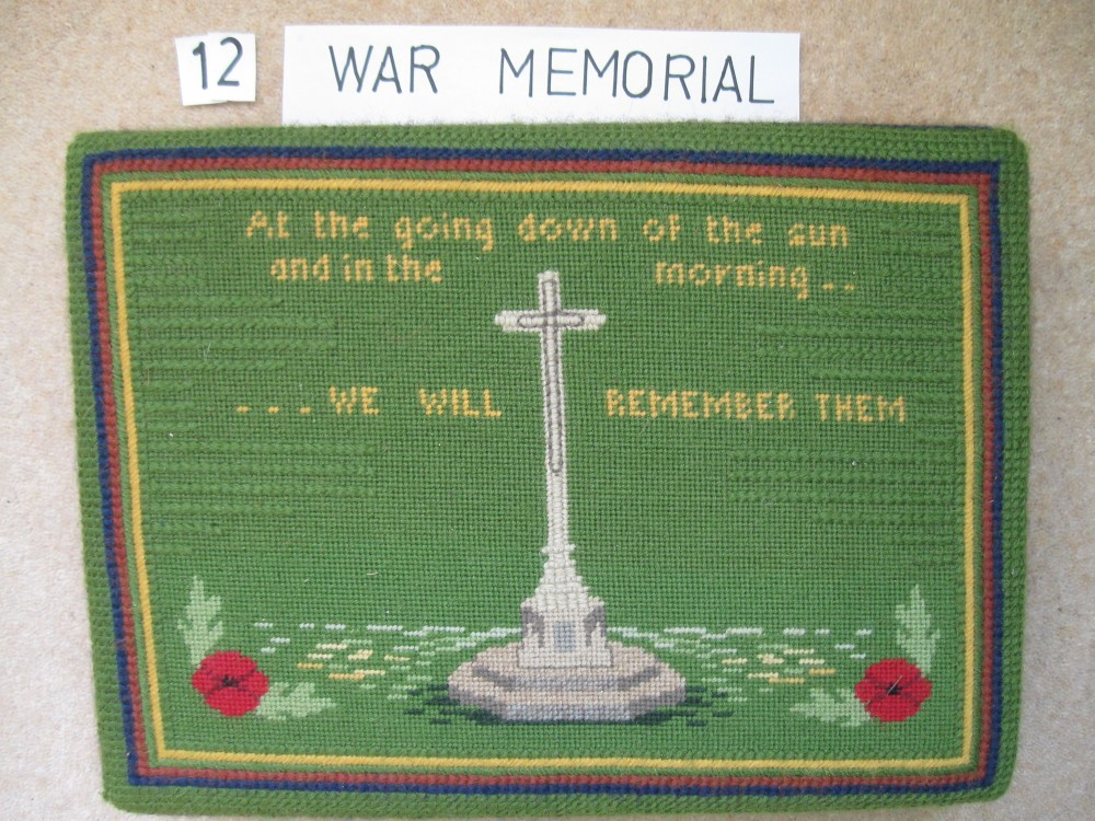 Kneeler 12 War Memorial