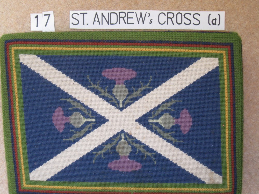 Kneeler 17 St. Andrew's Cross (a)