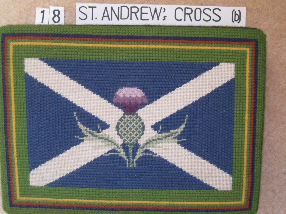 Kneeler 18 St. Andrew's Cross (b)