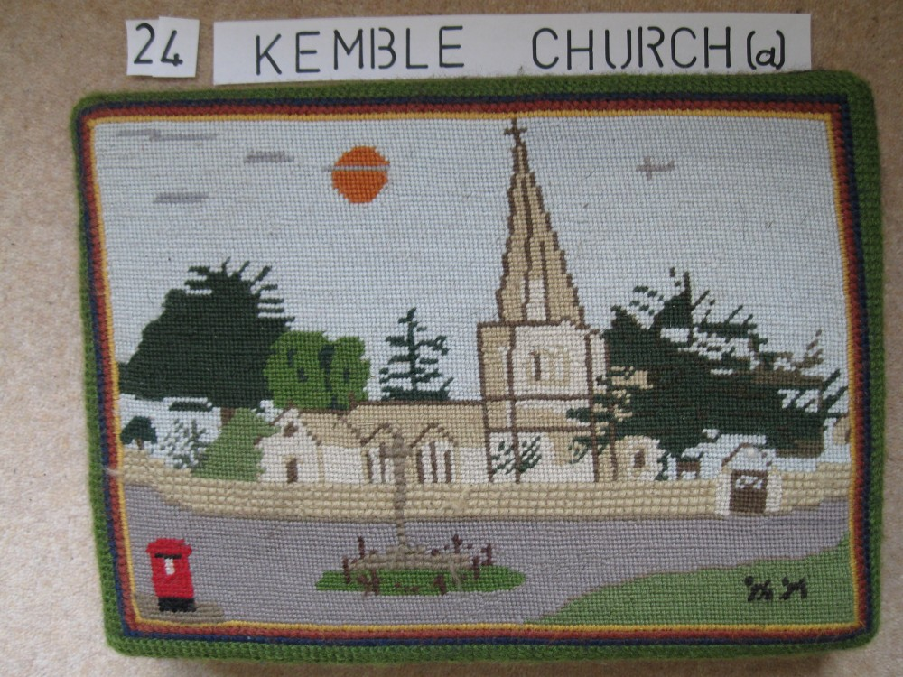 Kneeler 24 Kemble Church (a)