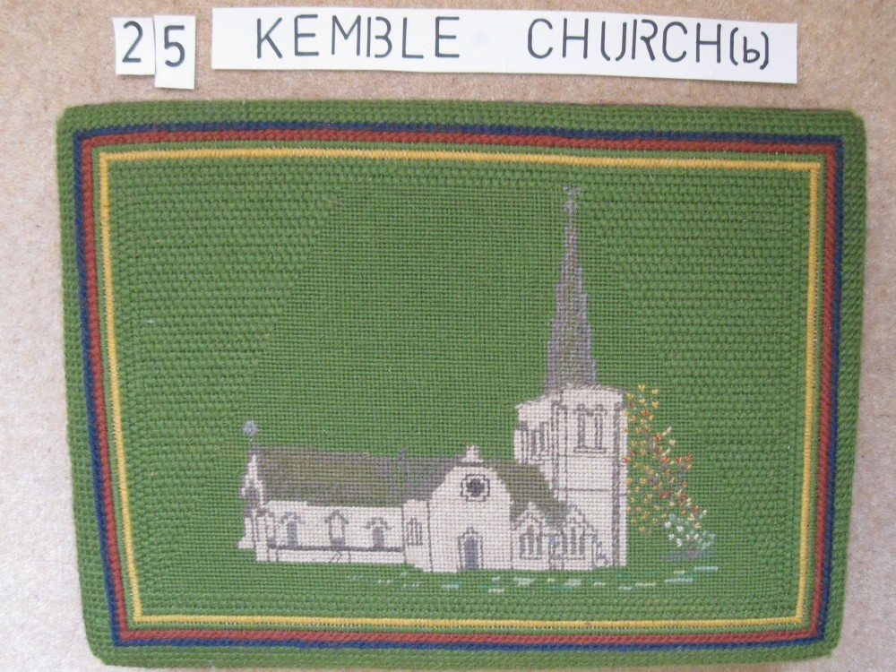 Kneeler 25 Kemble Church (b)