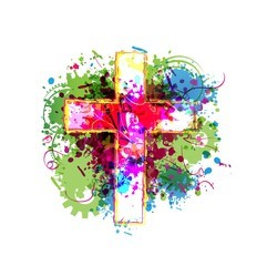 Decorative painted cross
