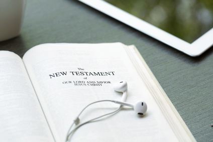 New Testament with ipad and era phones