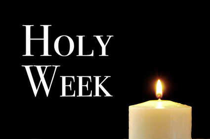 Holy Week and candle