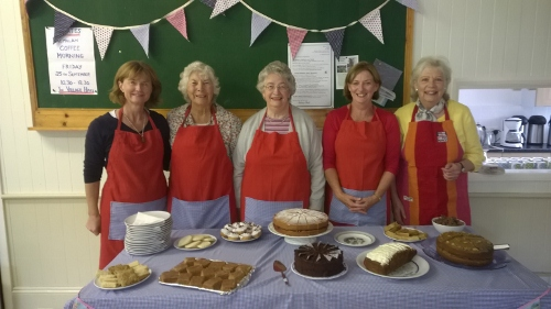 Photo of  the 'Coates Coffee and Cake' team