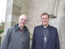 TheArchbishop and the Bishop outside