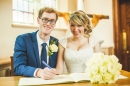 Lyd and Jack - signing the register