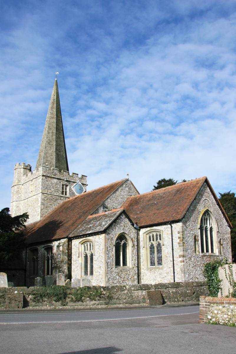 view of the exterior of Westbourne Church on a sunny day