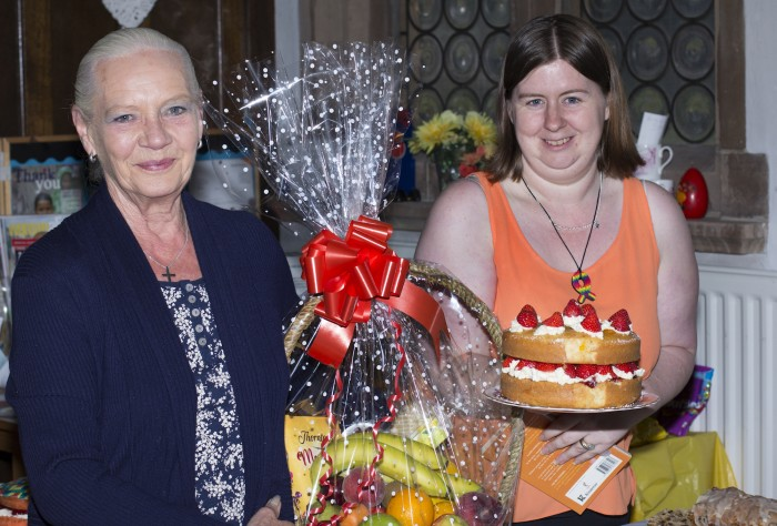 Winner of the over 14s Bake Off was Valerie Potts photographed with Lisa and her Prize
