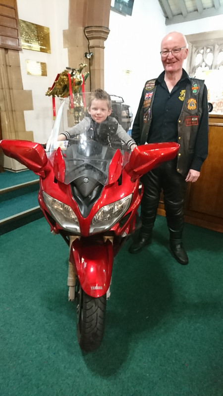 Yes motorbikes allowed in Church