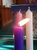 Advent Candle is lit