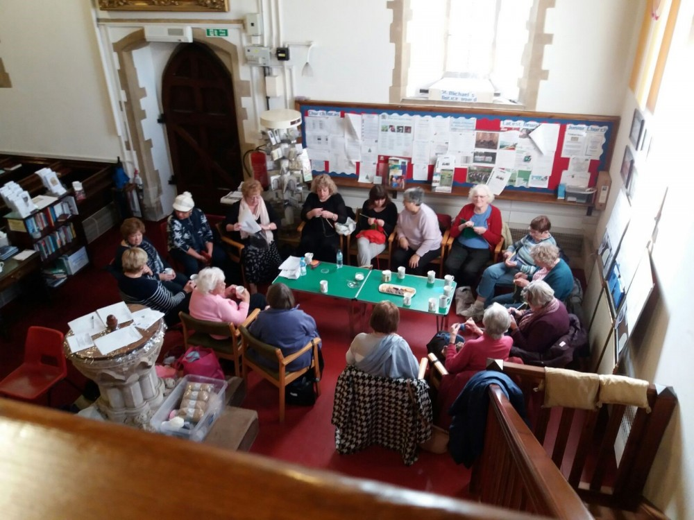 Knit & Natter group photo