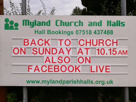 Back to Church sunday Service 10.15am and Facebook Live
