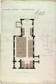 Plan of the interior of the new church