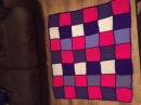 Purple and pink blanket
