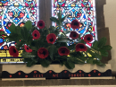 'Lest We Forget' poppy display