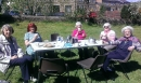 Mothers' Union members enjoy the sunshine