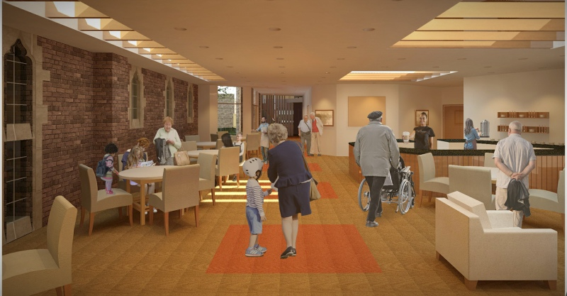 New Parish Centre: Cafe render