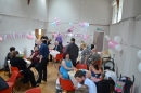 a christening party in the main hall