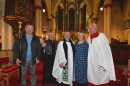 Revd Martin Short with church wardens
