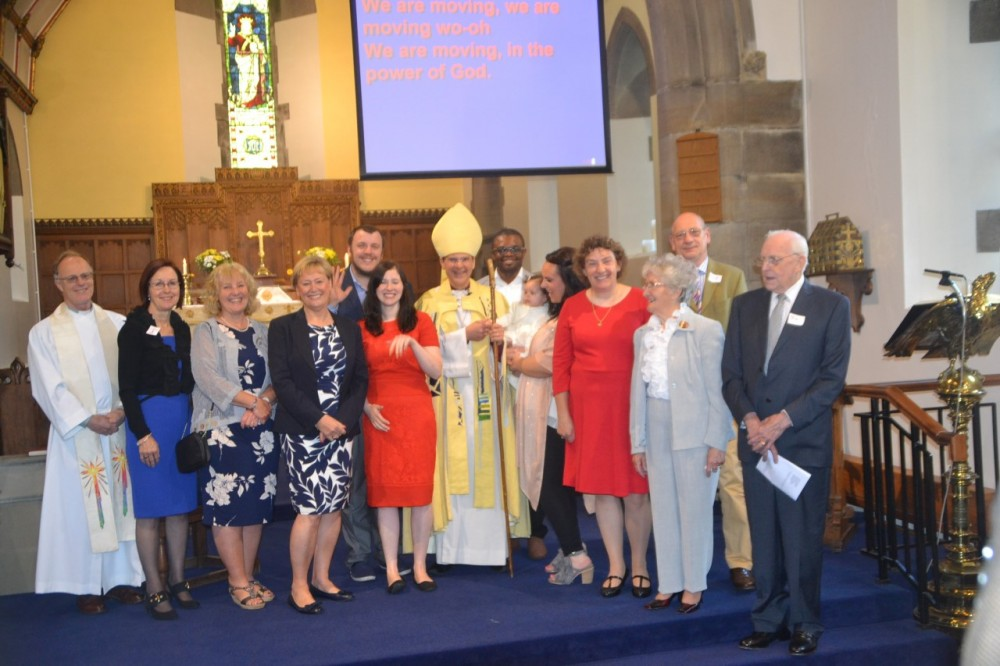 Candidates recently confirmed at St Saviours with Bishop Toby