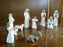 A carved willow Nativity scene