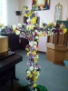 The Easter Cross was decorated during the service