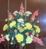 Harvest Flowers in Church