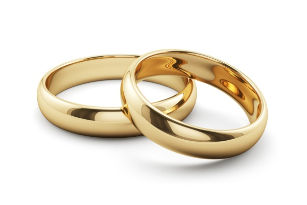 Picture of two wedding rings