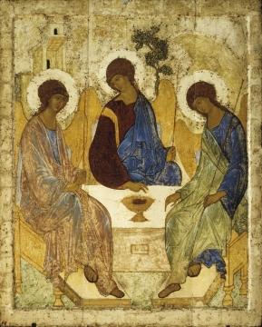 Rublev's Icon of the Trinity depicting hospitality