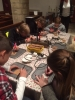 Learning pyrography at Youth Group