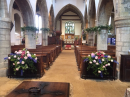 Flowers for wedding at St Mary's Grendon, 23.6.18
